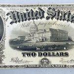 1917 $2 Bill AU+